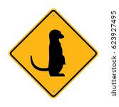 lemur sign. traffic sign.... | Shutterstock .eps vector #623927495