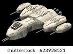 isometric futuristic sci fi... | Shutterstock . vector #623928521