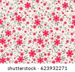 floral pattern. pretty flowers... | Shutterstock .eps vector #623932271