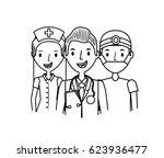 medicine professional people | Shutterstock .eps vector #623936477