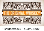 retro label with western style | Shutterstock .eps vector #623937239