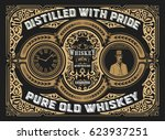 vintage whiskey label | Shutterstock .eps vector #623937251