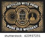 vintage whiskey label | Shutterstock .eps vector #623937251