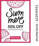 summer mobile sale banner.... | Shutterstock .eps vector #623939951