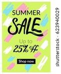 summer mobile sale banner.... | Shutterstock .eps vector #623940029