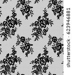 seamless vector black lace... | Shutterstock .eps vector #623946881