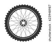 bicycle wheel symbol vector.... | Shutterstock .eps vector #623948987