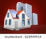 3d illustration of city over... | Shutterstock . vector #623949914