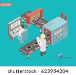 automated factory assembly line ... | Shutterstock .eps vector #623954204