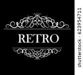 vintage vector swirl frame   Shutterstock .eps vector #623954711