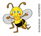 cute bee icon | Shutterstock . vector #623958305