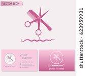 business cards design... | Shutterstock .eps vector #623959931