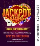 jackpot night flyer design... | Shutterstock .eps vector #623961539