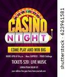 casino night flyer design... | Shutterstock .eps vector #623961581