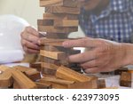 planning  risk and strategy of...   Shutterstock . vector #623973095
