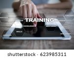 training and development... | Shutterstock . vector #623985311