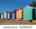 brighton beach boxes  melbourne ... | Shutterstock . vector #623986565