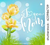 happy mothers day. lettering. ... | Shutterstock .eps vector #623986739