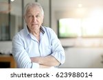 portrait of senior man standing ... | Shutterstock . vector #623988014