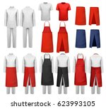 big set of culinary clothing ... | Shutterstock .eps vector #623993105
