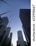 buildings in shinjuku  tokyo ... | Shutterstock . vector #623998667