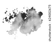 abstract watercolor grayscale... | Shutterstock .eps vector #624002675