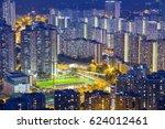 hong kong tuen mun downtown at... | Shutterstock . vector #624012461