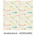 pet theme background vector... | Shutterstock .eps vector #624016481