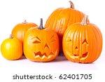Many Orange Halloween Pumpkins...