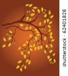 background with oak branch | Shutterstock .eps vector #62401828