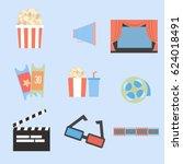 movie icon set | Shutterstock .eps vector #624018491