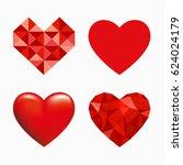 heart symbol | Shutterstock .eps vector #624024179