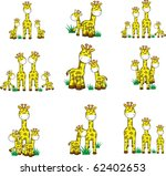 giraffe set in vector format...   Shutterstock .eps vector #62402653