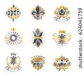 flowers  royal symbols  floral... | Shutterstock . vector #624041759