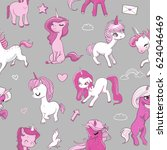 seamless pattern with pink...   Shutterstock .eps vector #624046469