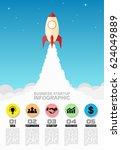 flat style business startup.... | Shutterstock .eps vector #624049889