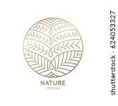vector logo of floral element.... | Shutterstock .eps vector #624053327
