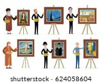 great painters painting art | Shutterstock .eps vector #624058604