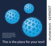 Colorful digital globe design vector - stock vector