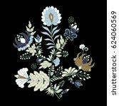 stock vector abstract hand draw ... | Shutterstock .eps vector #624060569