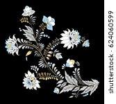 stock vector abstract hand draw ... | Shutterstock .eps vector #624060599