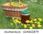 freshly picked dandelion... | Shutterstock . vector #624062879
