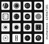 clothes button icons set in... | Shutterstock .eps vector #624067181