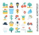 nature and gardening vector... | Shutterstock .eps vector #624070019