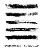 grunge brush strokes.hand...   Shutterstock .eps vector #624070634