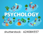 psychological therapy concept.... | Shutterstock .eps vector #624084557