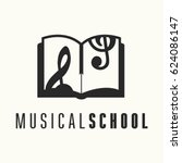 logo template for vocal or... | Shutterstock .eps vector #624086147
