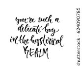 vector hand drawn calligraphy.... | Shutterstock .eps vector #624090785