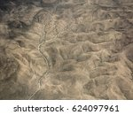 aerial view of desert in... | Shutterstock . vector #624097961