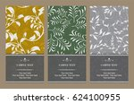 vector magical floral vertical... | Shutterstock .eps vector #624100955